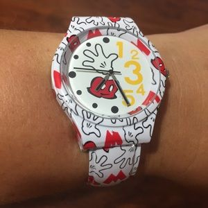 Disney Mickey Mouse Bangle Gloves Analog Watch